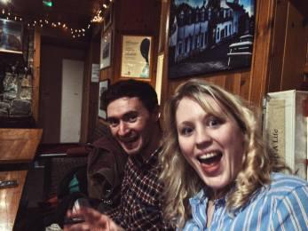 Sarah and Chris in the Applecross Inn